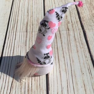 Holiday - Custom made raccoon love gnome new